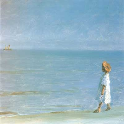 The Little Girl on Skagen Beach by Peder Severin Krøyer (1851-1909) link