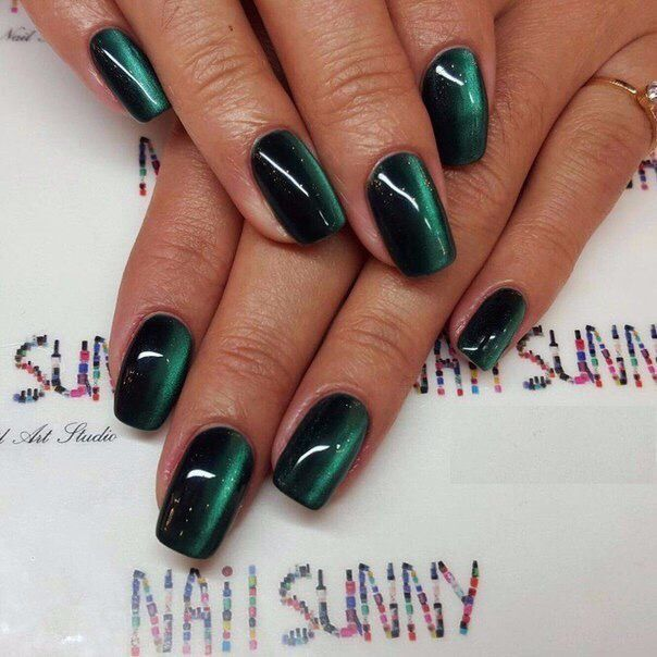 Nail Art #2904 - Best Nail Art Designs Gallery - Best 20+ Green Nail Ideas On Pinterest Dark Green Nails, Simple