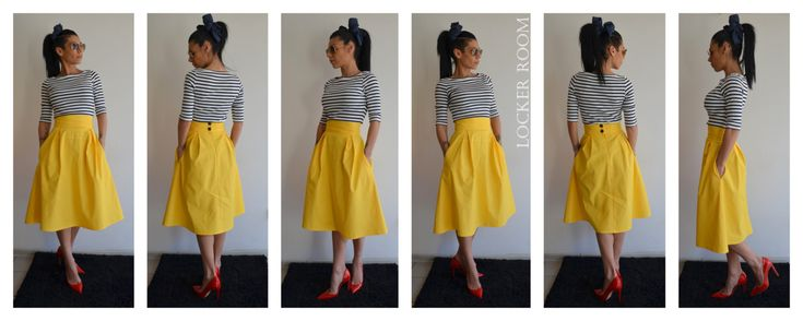 Yellow maxi skirt / Spring circle skirt / Yellow Woman skirt / High Wast skirt (80.00 USD) by ClothesByLockerRoom