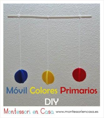 "Móvil de bebé ""Colores Primarios"" (Tutorial) – DIY ""Primary Colors"" baby mobile"