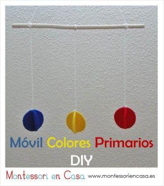 """Móvil de bebé """"Colores Primarios"""" (Tutorial) – DIY """"Primary Colors"""" baby mobile"""