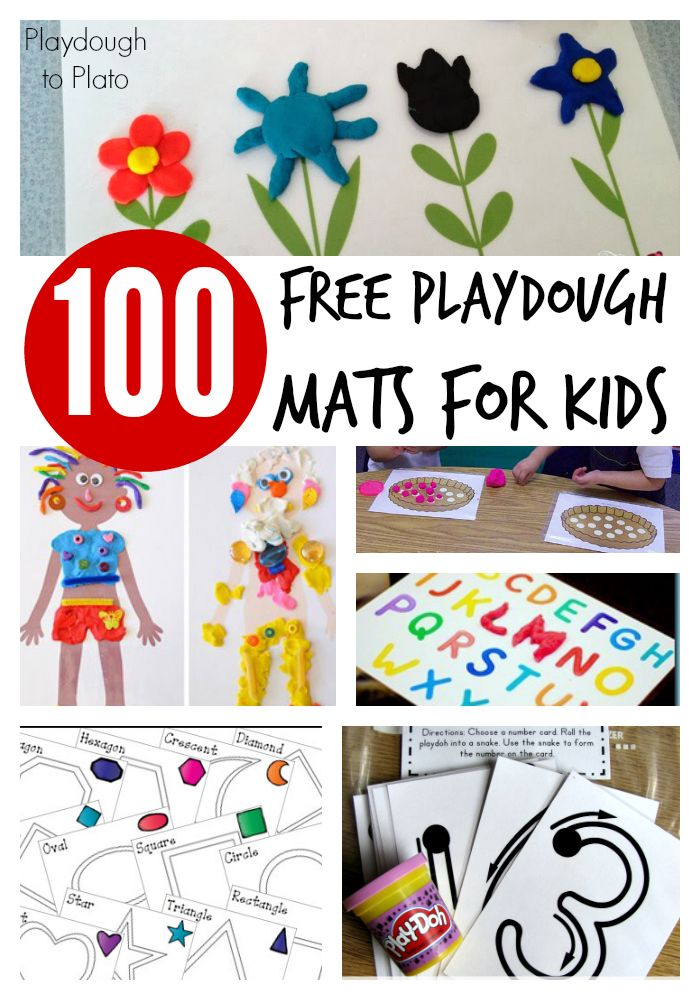 Links to 100 free playdough mats for fun ways to work on alphabet letters, maths, fine motor skills and creativity.