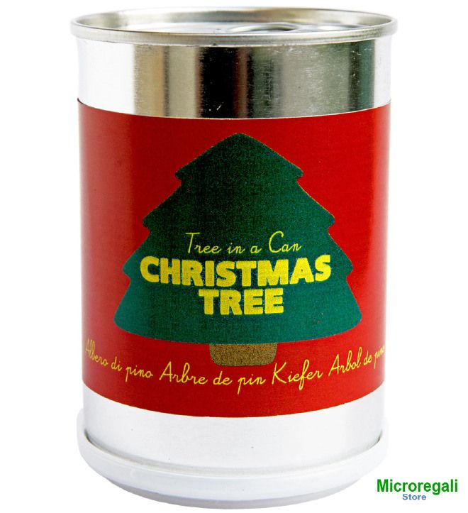 Christmas tree in a can (Albero di Natale in lattina) by Microgiardini Made in Italy: nice, original and cheap gift idea