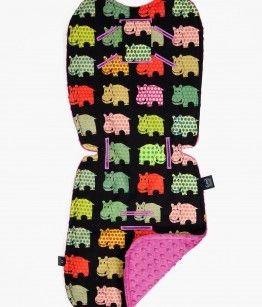 Stroller pad - hippos
