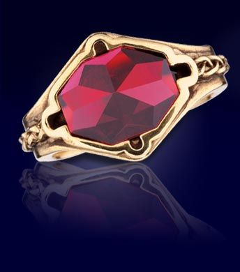 Narya; Ring of Fire and ruby ( apparently, this is Gandalf's ring, but I thought it was Cirdan's ring)