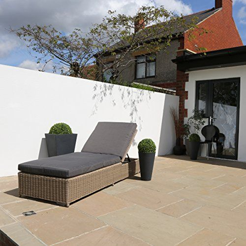 Rattan Luxury Garden Weatherproof Outdoor Lounger Sunbed with Cushions