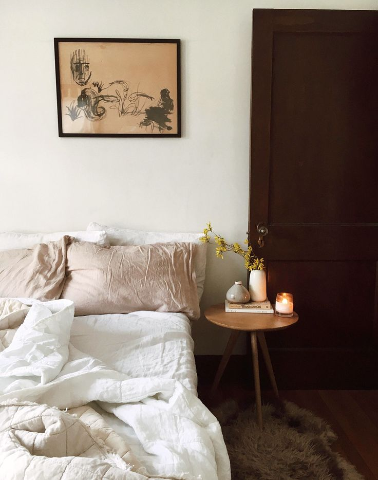 cozy bedroom with neutral decor. / sfgirlbybay