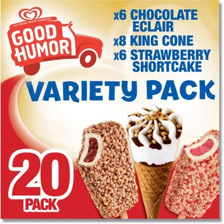 Good Humor Ice Cream & Frozen Desserts Variety Pack, 20 ct