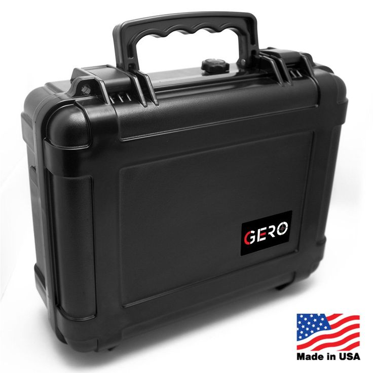 Gero Watertight Pistol Gun Case ABS Plastic Gun and Ammo Customizable Foam Conforms to MIL-STD-810F Transit Drop Test and Immersion Test and SAE J575 Dust Resistant Test Holds Up To 4 Pistols
