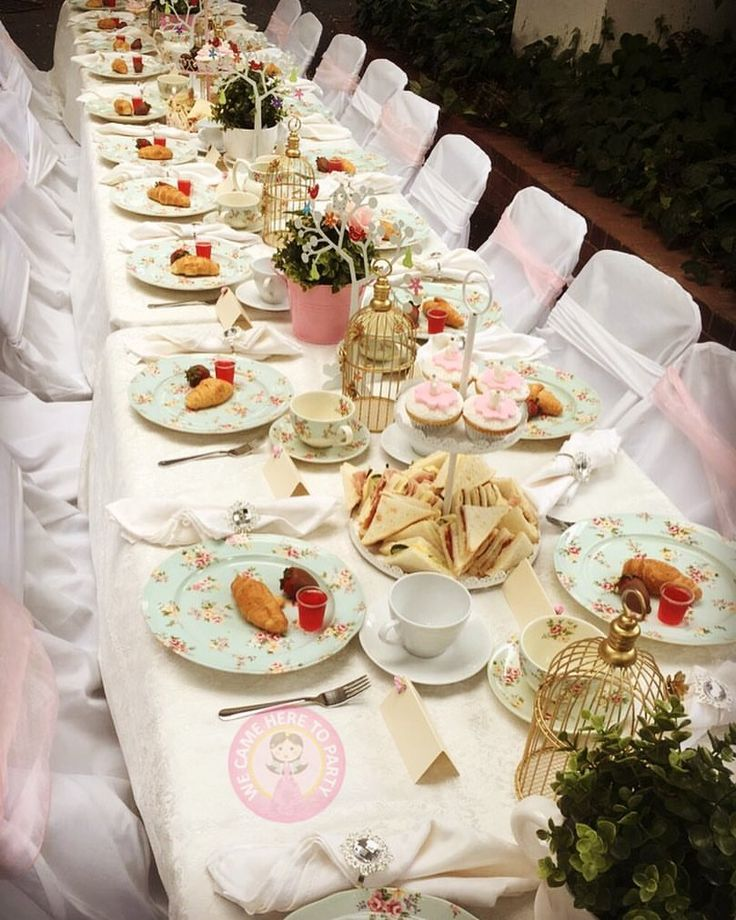 """60 Likes, 2 Comments - We Came Here To Party (@wecameheretopartyaus) on Instagram: """"🍰Another stunning high tea setup for precious Olivia🍰  We also have table and chair hire plus in…"""""""