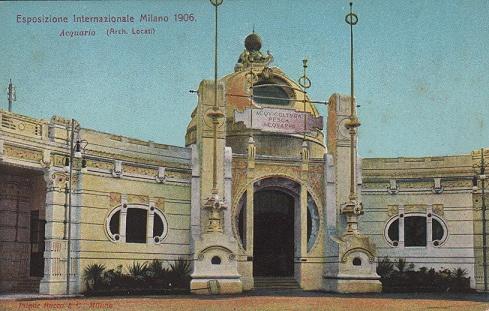 EXPO 1906 Milano. Acquario (cartolina)