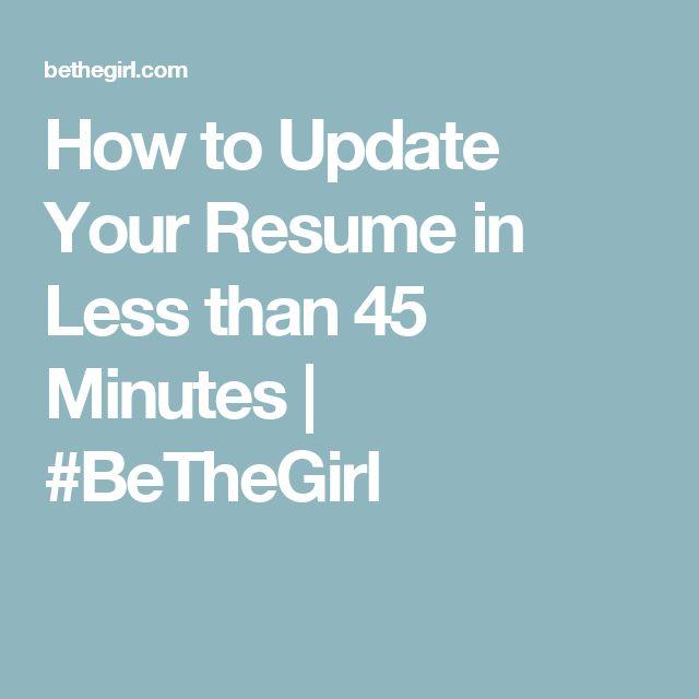 De 48 beste bildene om Resume på Pinterest - how to update your resume