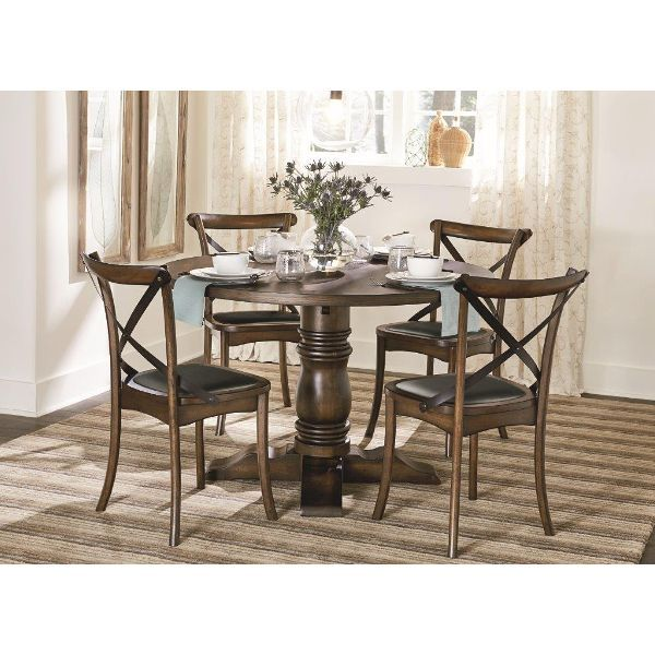 progressive furniture braxton round dining table complement a bay window in your dining room with the progressive furniture braxton round dining table