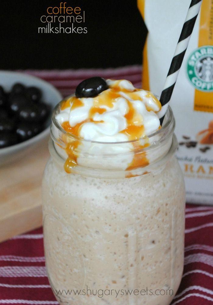 Caramel Coffee Milkshakes