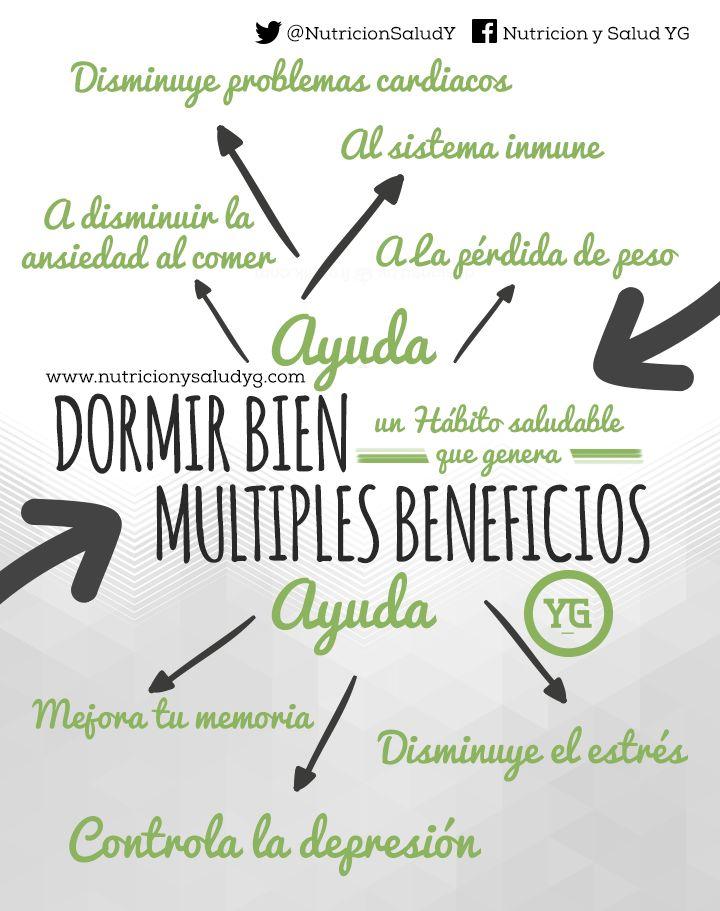 Dormir bien un hábito saludable que genera múltiples beneficios  http://nutricionysaludyg.com/salud/dormir-bien-habito-saludable-beneficios/