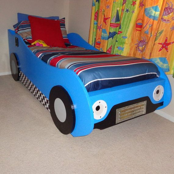 diy kids racing car bed woodworking plans by buildeazy on etsy