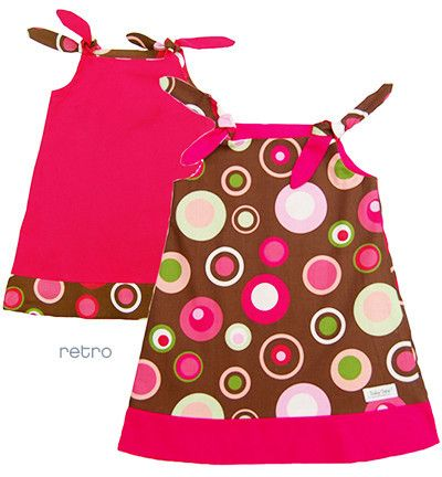 Reversible Tie Dress: Hides Spills with a flip. This dress also becomes a top when the child outgrows it! $58