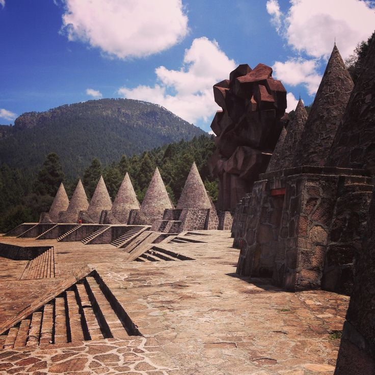 Ceremonial Center for the Otomi. Temoaya, Estado de Mexico, Mexico. This a great place to visit if you're in Toluca. The mountains and forest surrounding make for a beautiful natural setting. See more at http://cocinax.com/travel/toluca-edmex