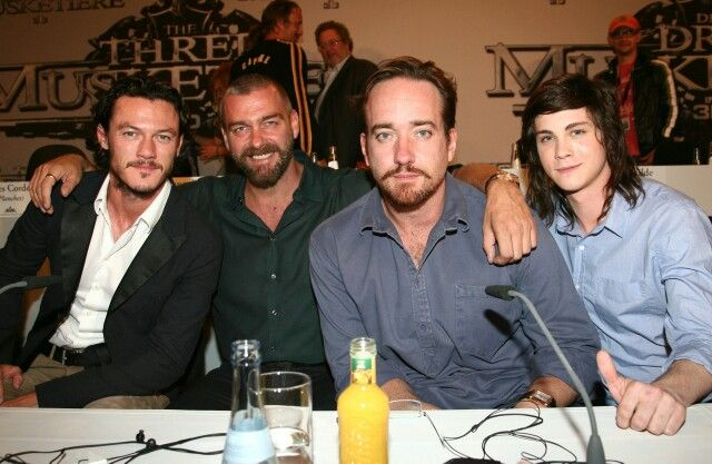 """The Three Musketeers"", (2011) : Luke Evans, Ray Stevenson, Matthew MacFadyen and Logan Lerman"