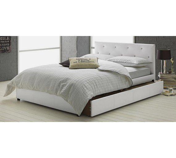Best Buy Hygena Imelda Small Double 1 Drawer Bed Frame White 640 x 480