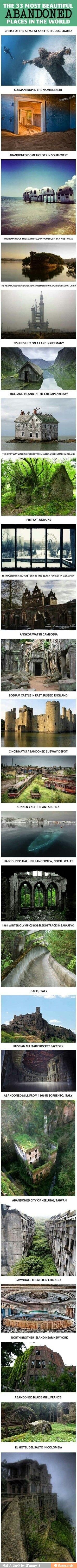 I want to go to some of these places