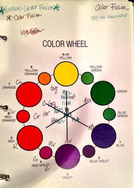 Redken Color Fusion Color Wheel BEAU Ti Ful Pinterest