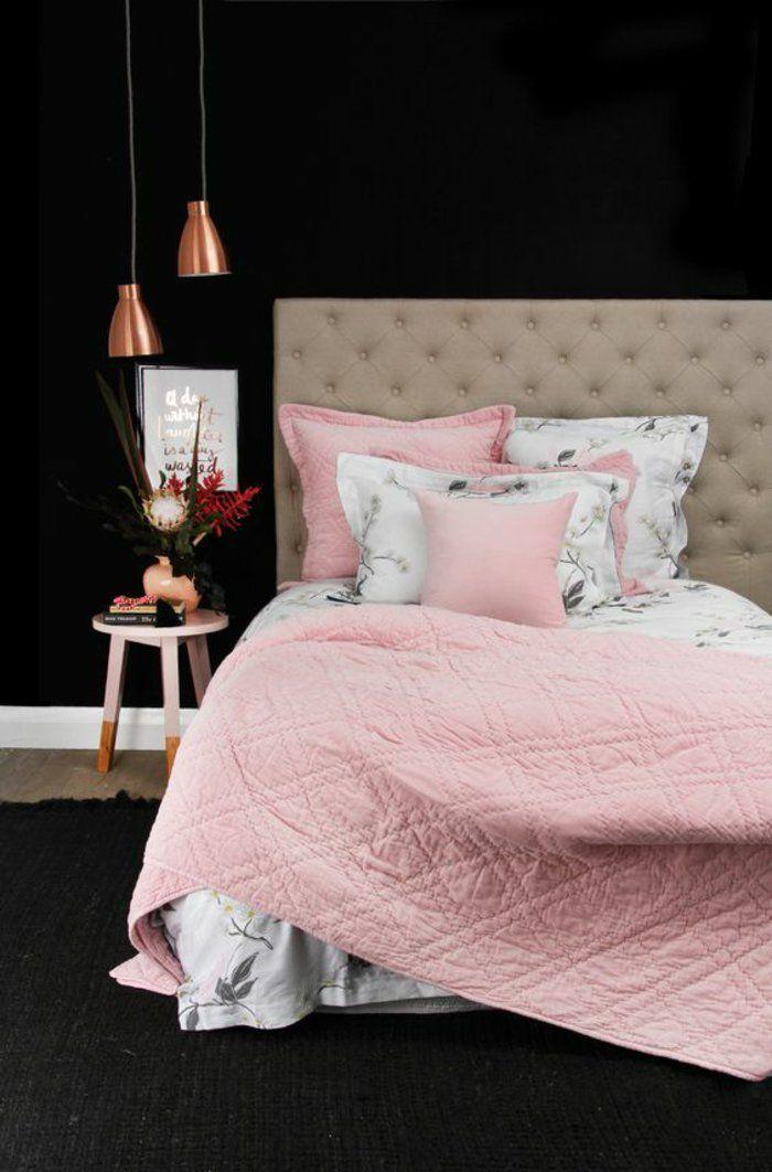 koli linge de lit pour une chambre ado file dco rose et cuivre
