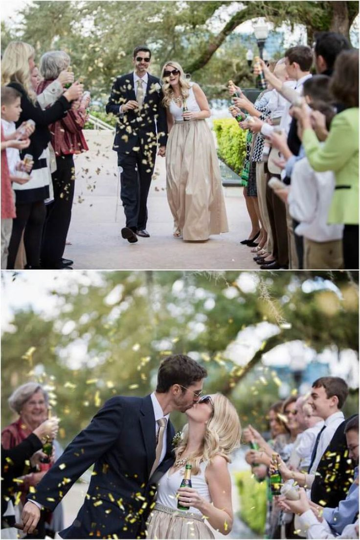 kate spade inspired wedding - cue the confetti exit
