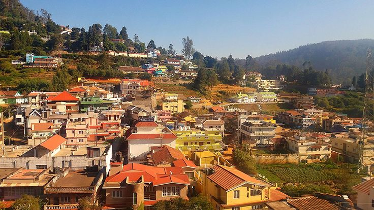 #colorful houses #hill station #hilly #mountain houses #mountain village #ooty #scenic