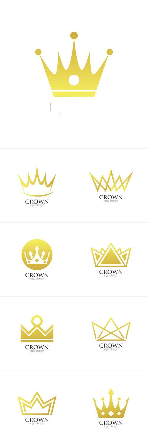 Vectors - Crown Creative Concept Logo Design Template