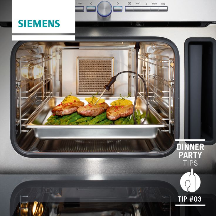 #Siemens dinner party tips: Our exclusive range of studioLine ovens come with a temperature probe built into the oven. #appliances #ovens #food