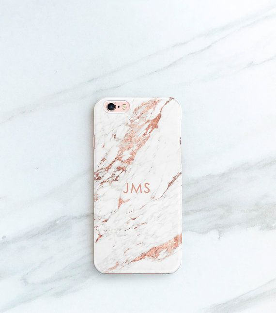 Rose Marble Phone Case Personalized Gift for Her, Sister, Mom, iPhone 7, 6S, SE, Plus Case Custom Christmas Stocking Stuffer Blogger