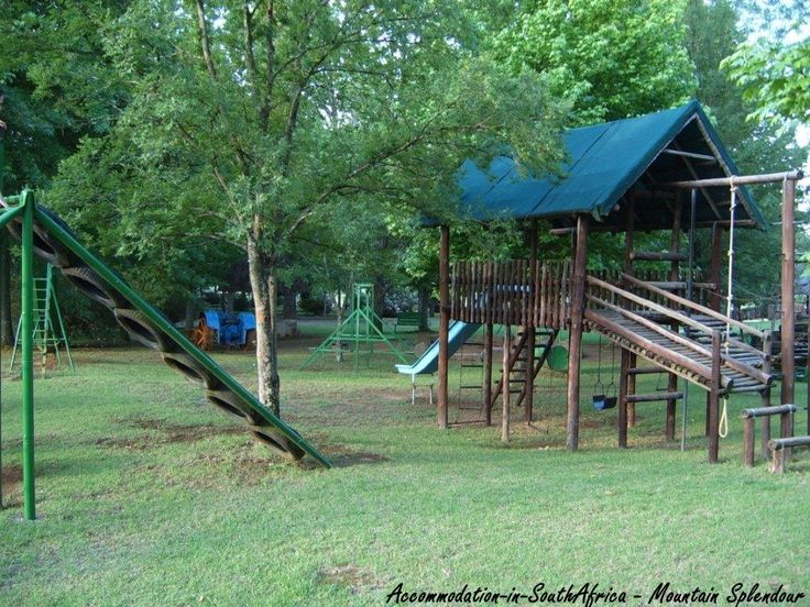 Children's playground at Mountain Splendour Eco-Resort. http://www.accommodation-in-southafrica.co.za/KwaZuluNatal/CentralDrakensberg/MountainSplendour.aspx