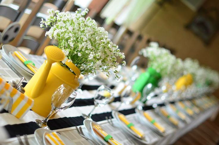 Yellow decorations