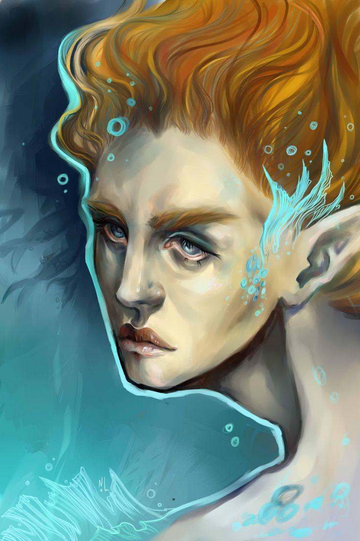 Nolu #noluart #digital #illustration #sea #girl #face #fantasy