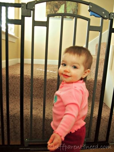 Best baby gate! Wide, tall, and pretty! From @Stuff Parents Need