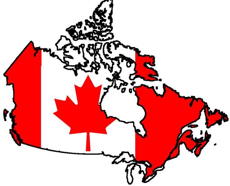 canada contour flag