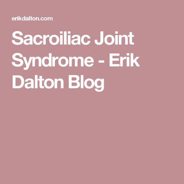 Sacroiliac Joint Syndrome - Erik Dalton Blog