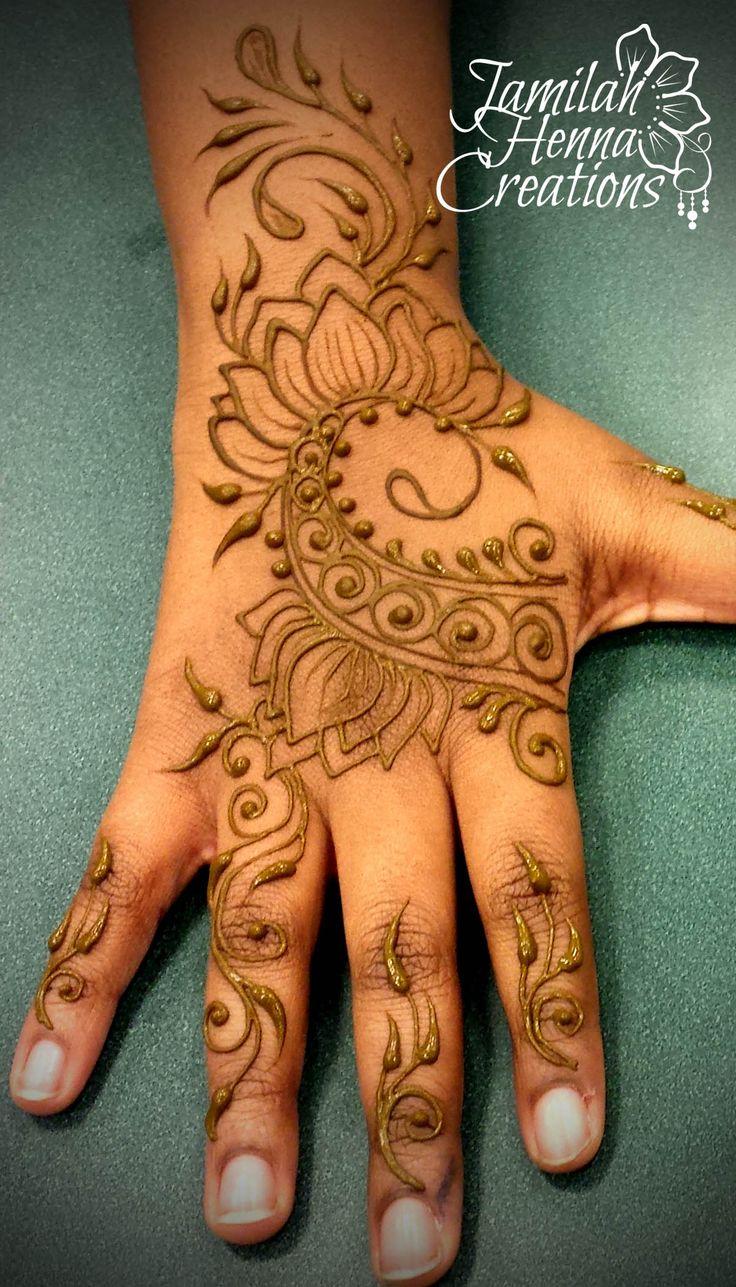 modern lotus fusion henna www.jamilahhennacreations.com