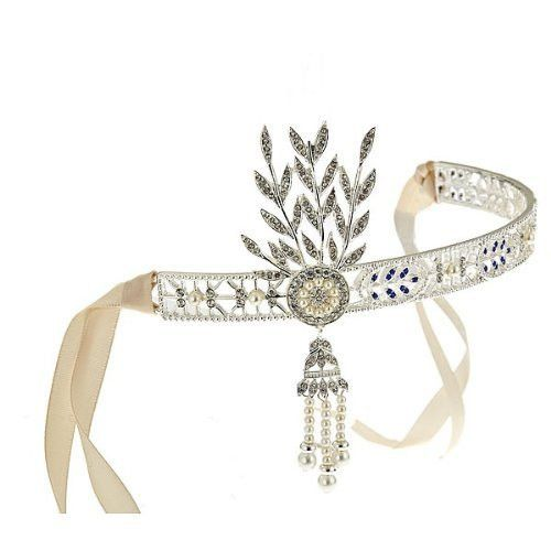 Vintage Great Gatsby Blue Crystal Accent Bridal Headpiece – Sterling Forever