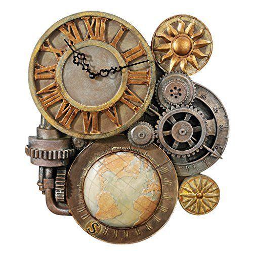 100% Copper Handmade Large Wall Clock Decorative Metal Wall Art Sculpture (Copper, 55 cm)