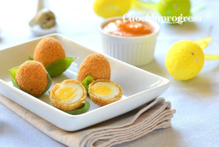 Uova+di+quaglia+con+salsa+rossa