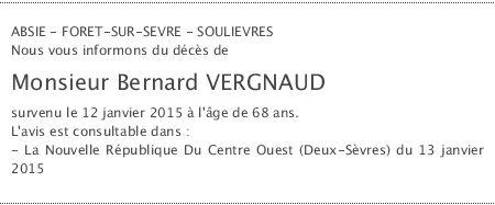 Accédez à l'espace dédié à Bernard VERGNAUD sur dansnoscoeurs.fr