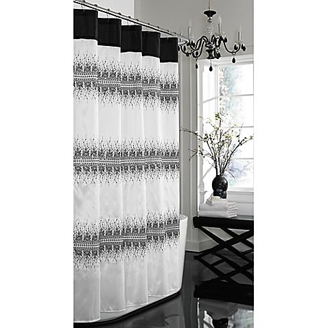 Curtains Ideas black shower curtain with white flower : 1000+ images about Bathroom on Pinterest | Pine cone hill, White ...