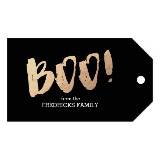 #Boo Black & Elegant Gift Tag #HalloweenGifts #HalloweenIdeas