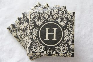 Stranded in Cleveland: Mod Podge Coasters | DIY | Hostess Gift Idea