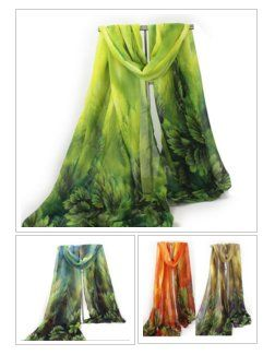 #Women Long #Scarf Leaves #Pattern Print Voile Thin Scarves #fashion #gift #style #shopping https://goo.gl/dMKOWX