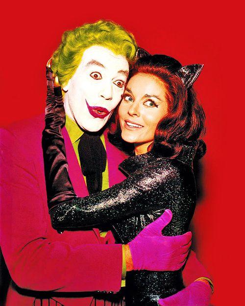 Batman, classic series 60's - Cesar Romero as the Joker, and Julie Newmar as Catwoman.