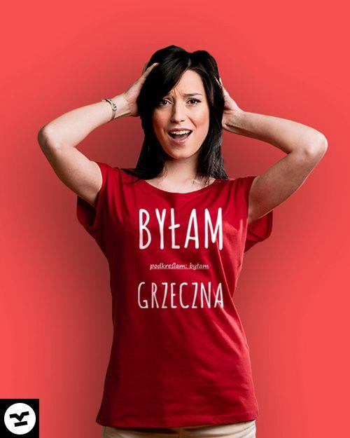 Byłam grzeczna!  #dla niej #dla kobiety #dla dziewczyny #grzeczna #byłam #byłam grzeczna #śmieszne koszulki #koszulki damskie #koszulki z napisami #pulpet