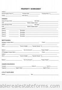 personal fact sheet template